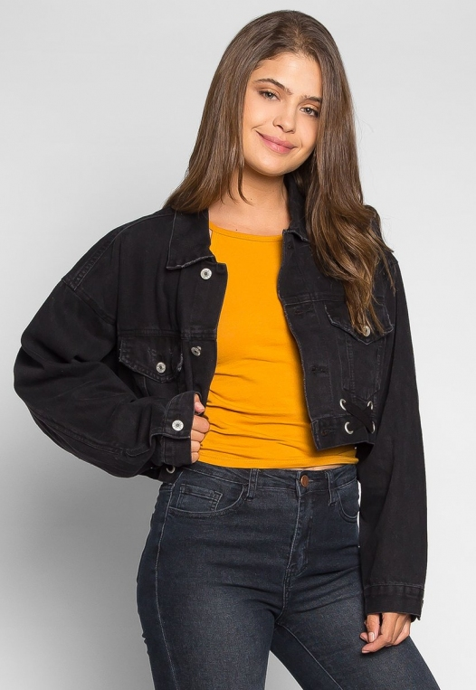 Moonlight Crop Denim Jacket alternate img #3