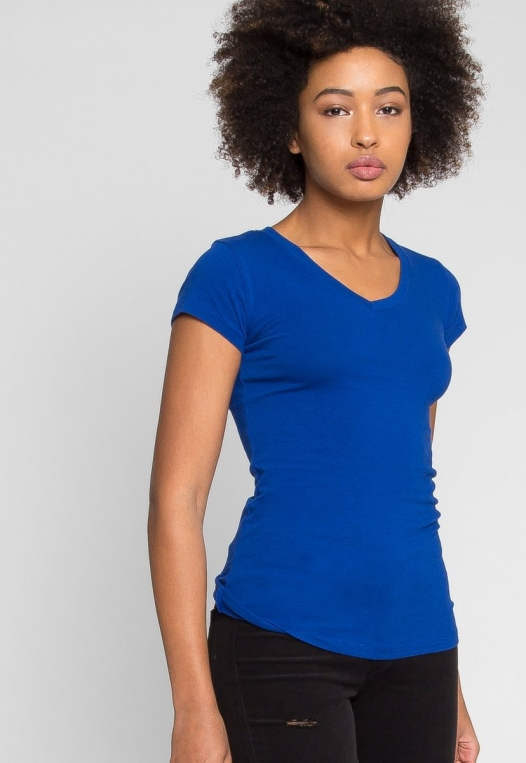Venus V-Neck Tee in Blue alternate img #1