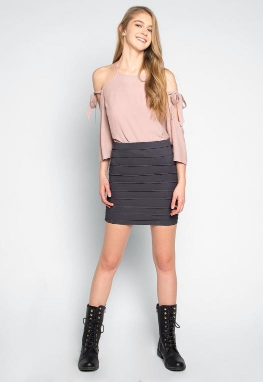 Keep a Secret Textured Mini Skirt alternate img #4