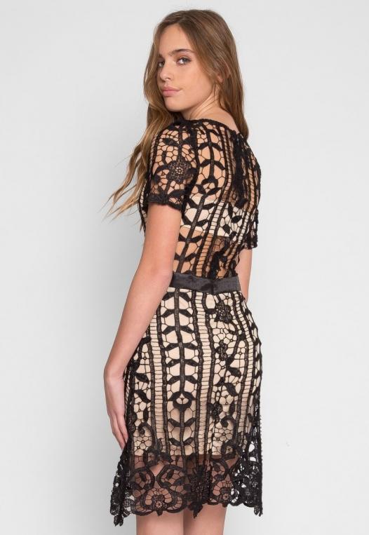 See Through Crochet Dress alternate img #4