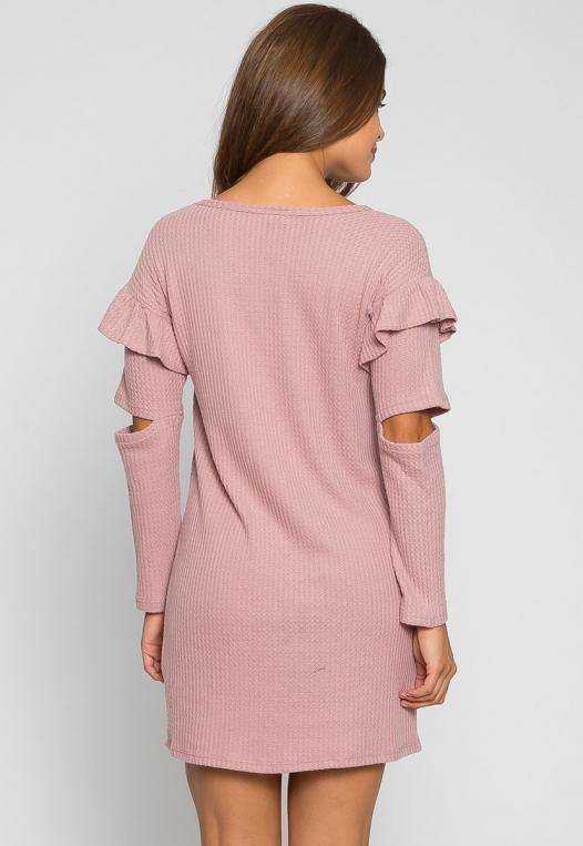 Milkshake Knit Dress in Light Pink alternate img #3