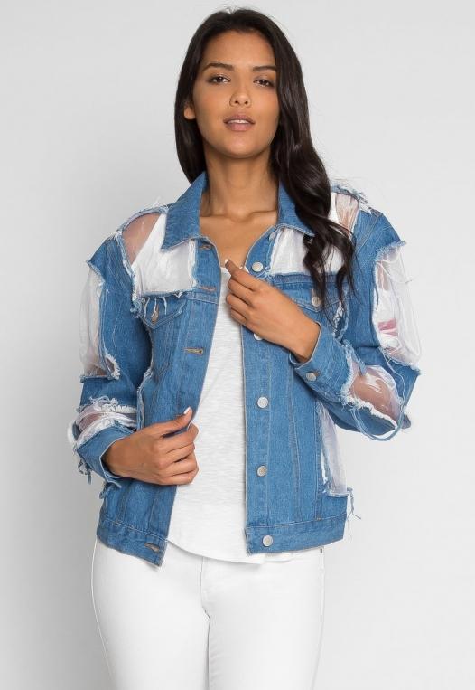 Ocean Lane Distressed Denim Jacket alternate img #3