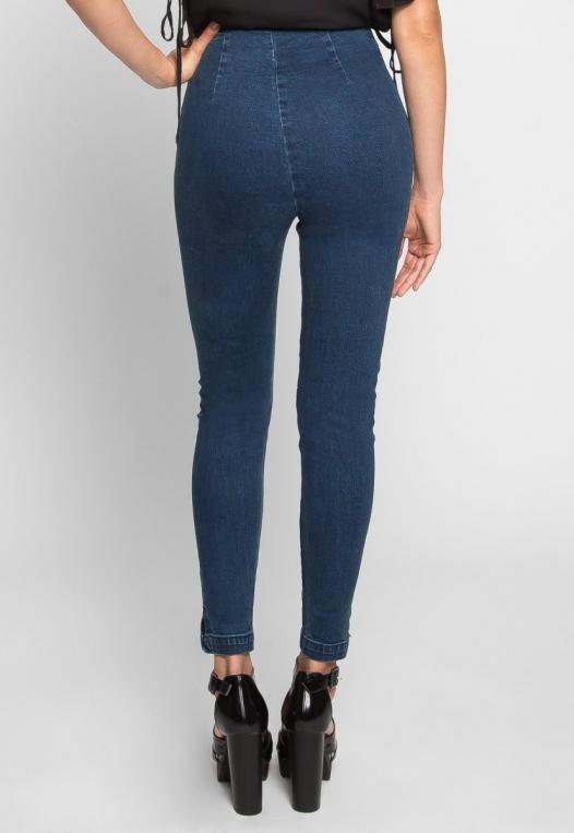 High Waist Zipper Front Skinny Jeans alternate img #4