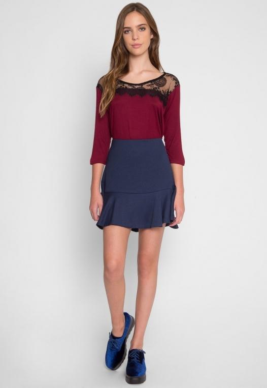 School Dance Drop Waist Skirt alternate img #4