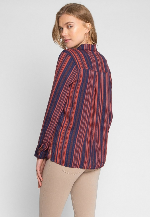 Love To Love Stripe Lace Up Shirt alternate img #4