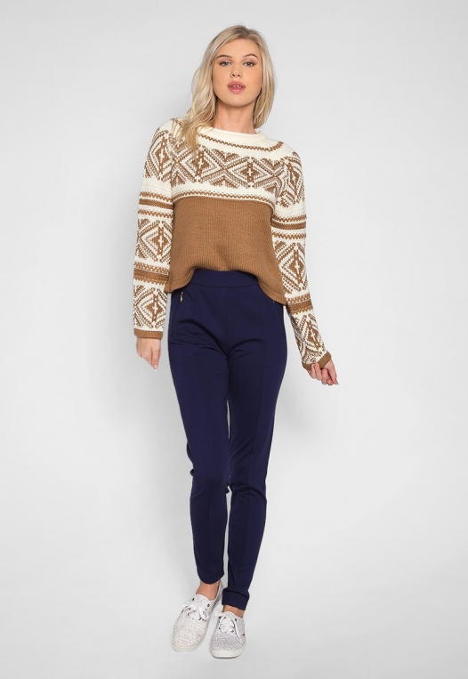 Explorers Geo Pattern Sweater in Brown alternate img #4