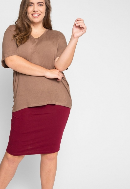 Plus Size Greatest Boxy Tee in Mocha alternate img #5