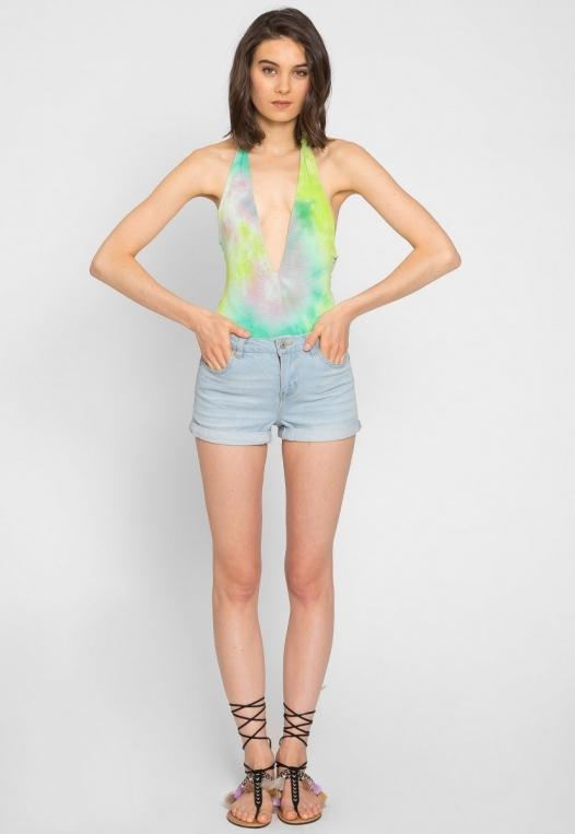Crazy Tie Dye Halter Bodysuit alternate img #4