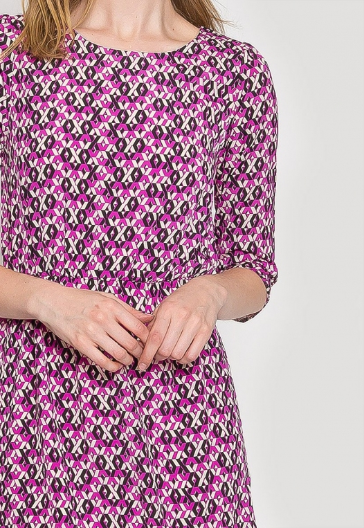 Quirky Geometric Printed Dress alternate img #7