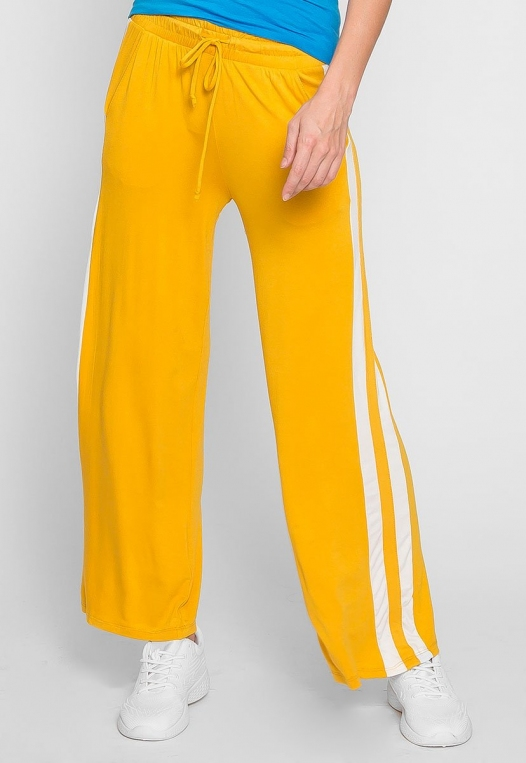 Sunny Day Wide Leg Joggers in Yellow alternate img #3
