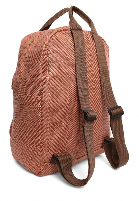 Woven Textured Backpack alternate img #3