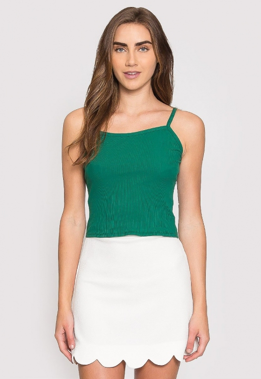 Dreams Crop Tank Top in Green alternate img #1