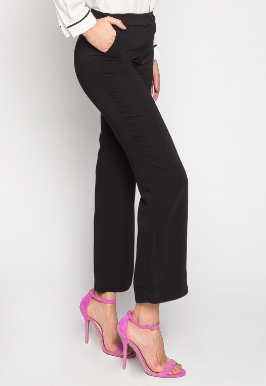 Busines Only Flared Pants In Black alternate img #2
