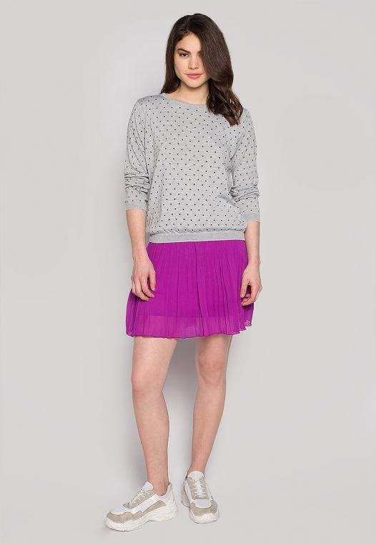 Soft Star Printed Sweater in Gray alternate img #4