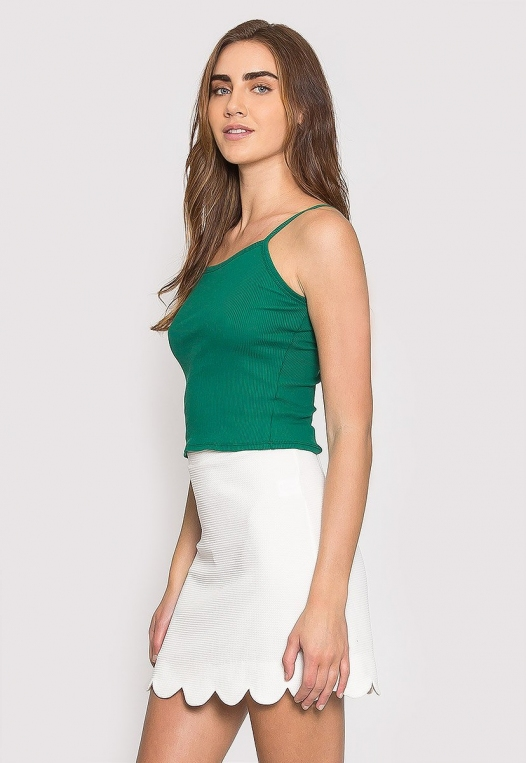 Dreams Crop Tank Top in Green alternate img #3