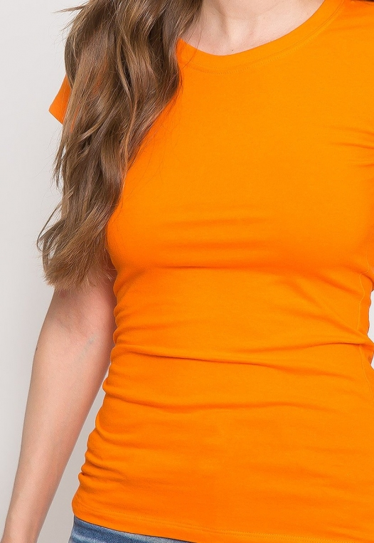 Venus Fitted Crew Neck Tee in Orange alternate img #6