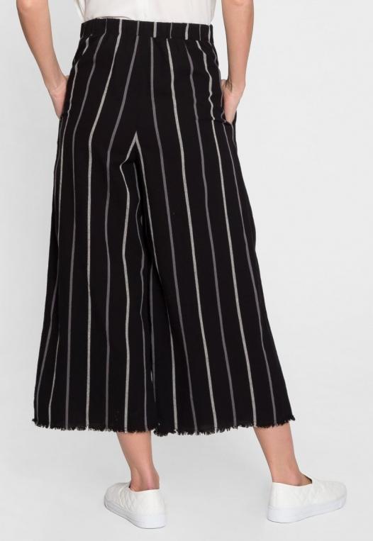 Granada Button Front Stripe Culottes alternate img #3