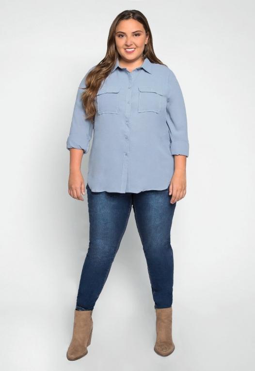 Plus Size Erin Flap Pockets Shirt alternate img #4