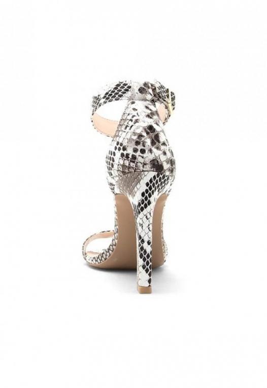 Soleil Snakeskin Ankle Strap Heels alternate img #2