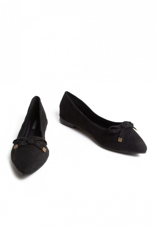 Lee Bow Front Flats in Black alternate img #6