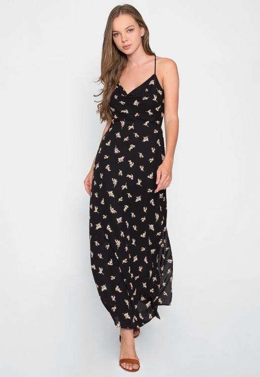 Madison Cowl Neck Floral Maxi Dress alternate img #3