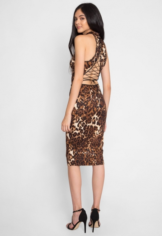 Belhurst Leopard Midi Dress alternate img #3