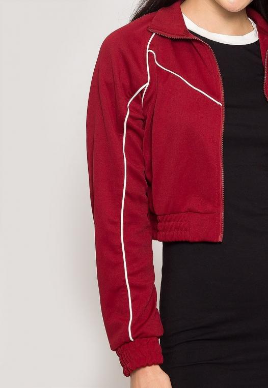 Retro Contrast Piping Jacket alternate img #6