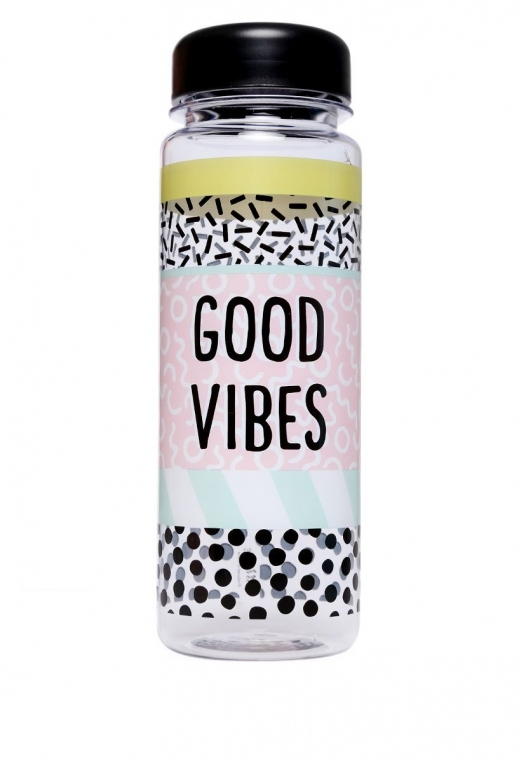 Good Vibes Water Bottle alternate img #1