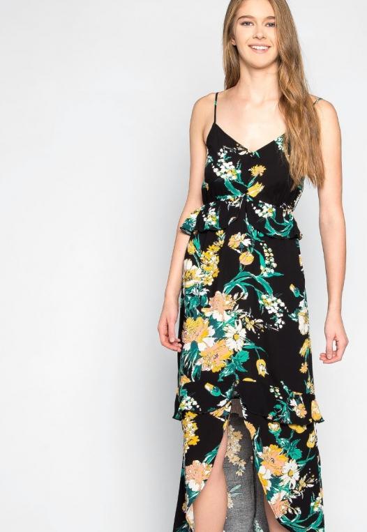 In Bloom Ruffle Waist Floral Dress alternate img #5