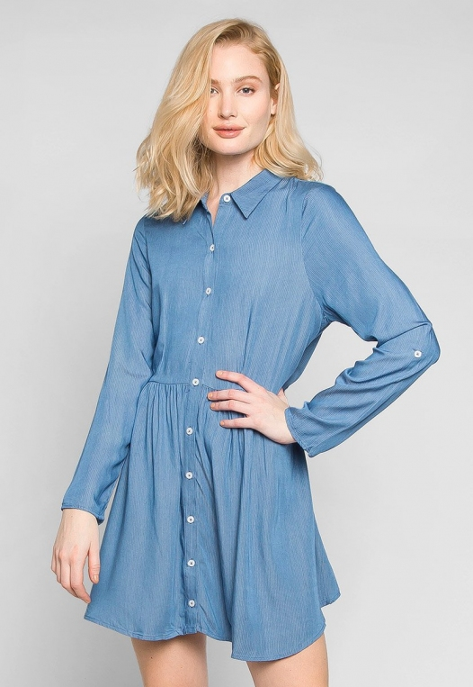 Remember Me Peplum Shirt Dress alternate img #1