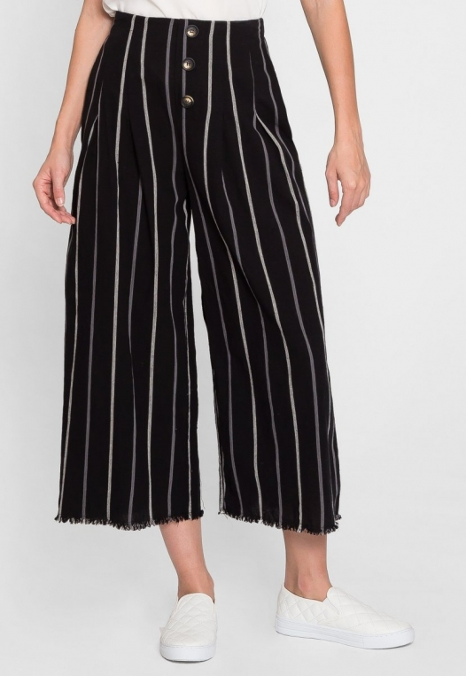 Granada Button Front Stripe Culottes alternate img #4