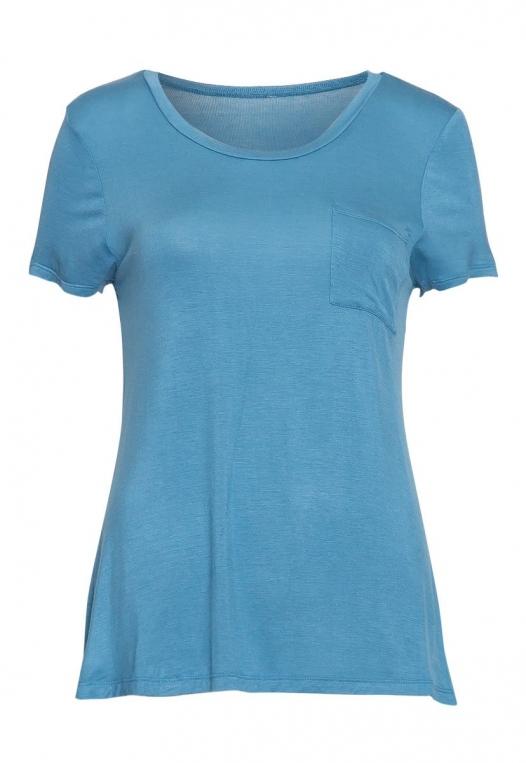Oregon Oversized V-Neck Pocket Tee in Blue alternate img #7