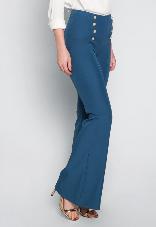 About You Pearl Button Flare Pants alternate img #3