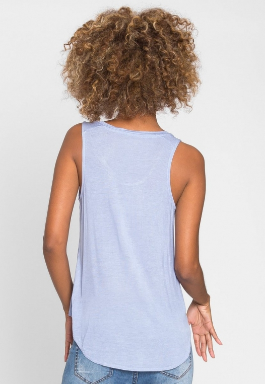Soft Knit Tank Top in Blue alternate img #3