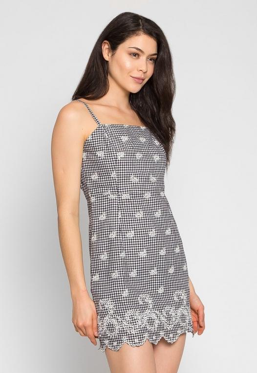Sunset Embroidered Mini Dress alternate img #3