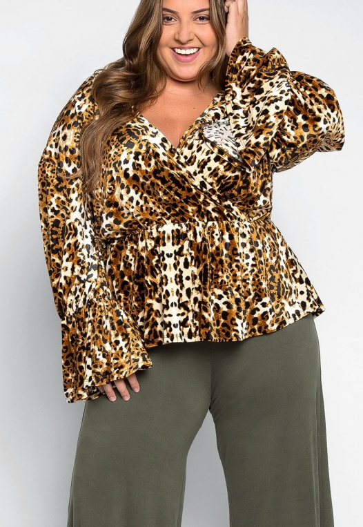 Plus Size Wildcat Wrapped Blouse alternate img #5