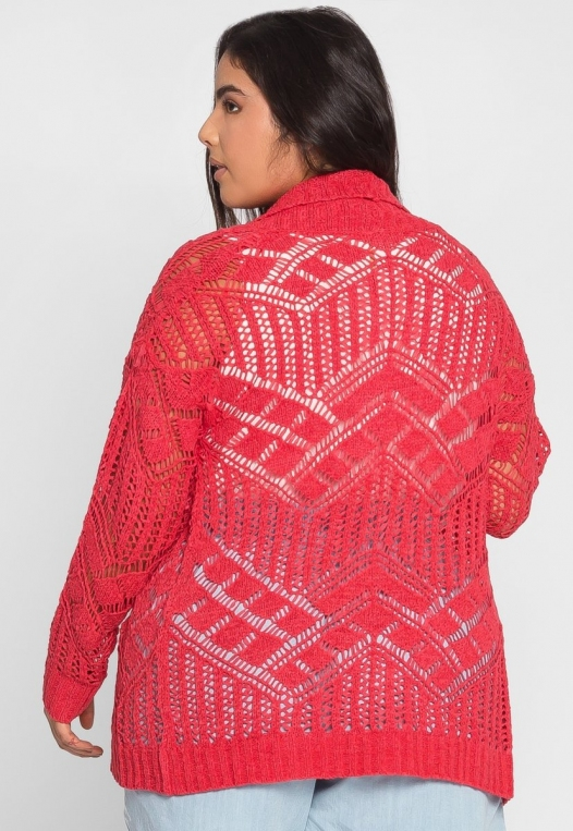 Plus Size Spring Air Crochet Cardigan alternate img #3
