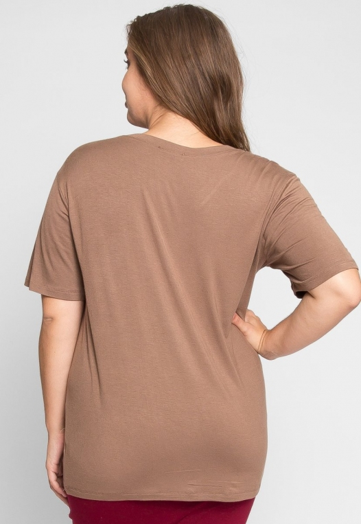 Plus Size Greatest Boxy Tee in Mocha alternate img #3