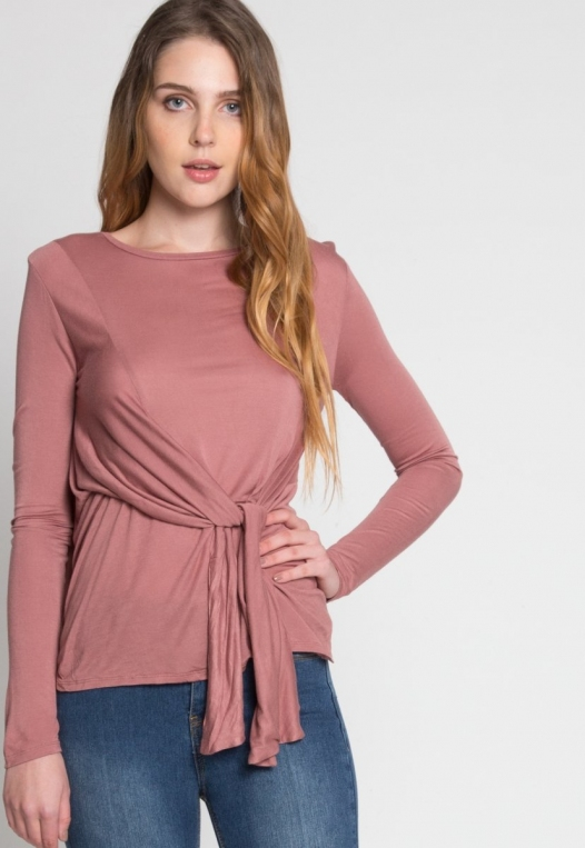 Monday Morning Jersey Knit Top in Mauve alternate img #6