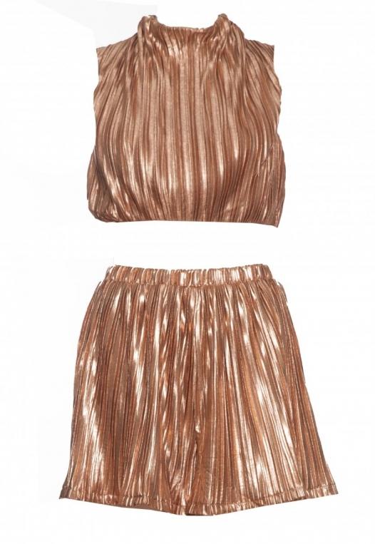 Gold Touch Crop Top Skirt Set alternate img #7