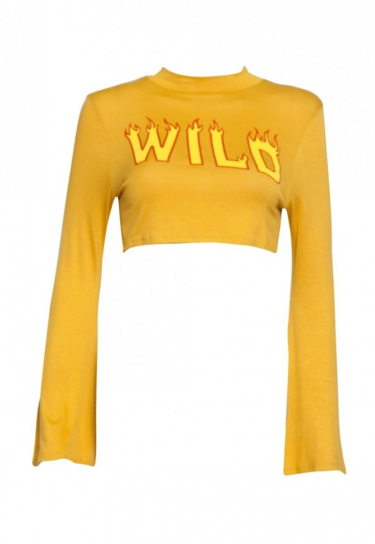 On Fire Wild Graphic Tee in Mustard alternate img #7