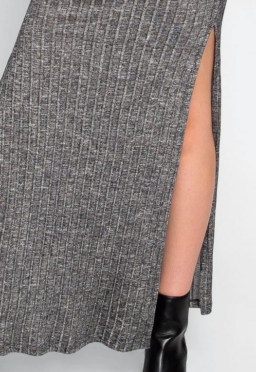 Hit The Ground Heathered Knit Maxi Skirt alternate img #6