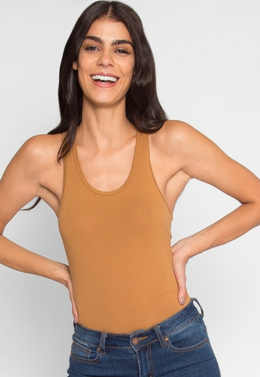 Hermosa Bodysuit in Coffee alternate img #1