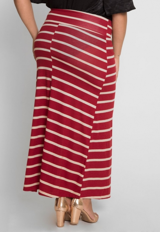 Plus Size Magical Night Stripe Maxi Skirt alternate img #3