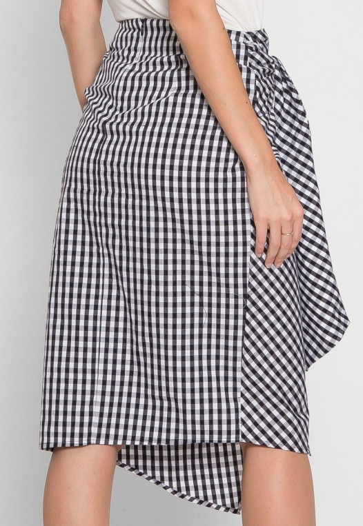 Gorgeous Gingham Plaid Tie Front Skirt alternate img #2
