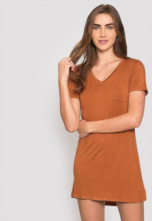 Hazelnut T-Shirt Dress alternate img #5