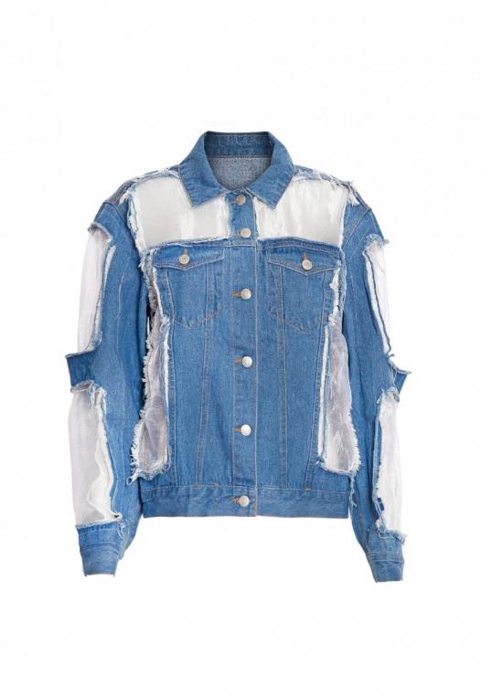 Ocean Lane Distressed Denim Jacket alternate img #8