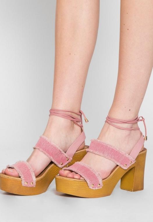 Palos Verdes Platform Heels in Blush alternate img #1