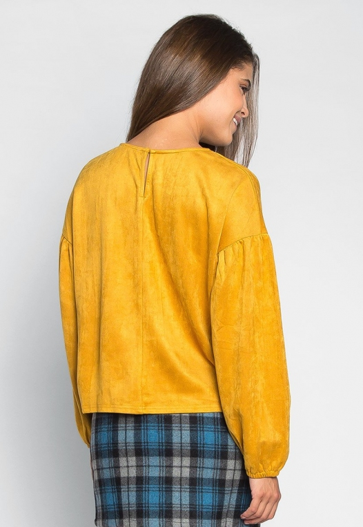 Budapest Lace Up Top in Mustard alternate img #3