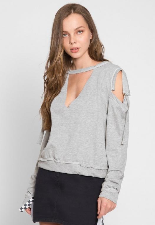 March Cold Shoulder Sweatshirt alternate img #1